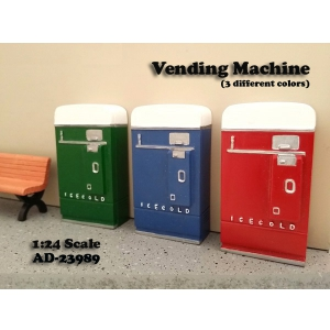 1 Piece Vending Machine Accessory Diorama Red For 124 Scale Models by American Diorama