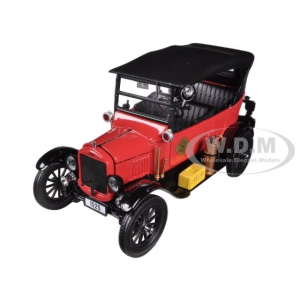 1925 Ford Model T Touring Fire Chief 1/24 Diecast Car Model by Sunstar