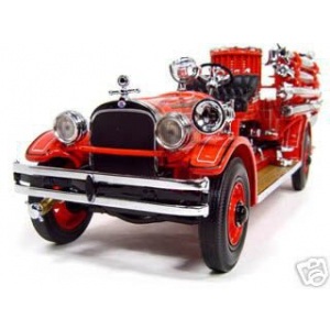1927 Seagrave Suburbanite Fire Engine Truck Red 1/24 Diecast Model Car by Road Signature