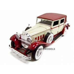 1930 Packard Lebaron Cream/Red 1/18 Diecast Model Car by Signature Models