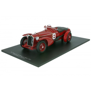 1932 Alfa Romeo 8C 8 Lemans Winner R.Sommer / L.Chinetti 1/18 Model Car by Spark