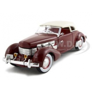 1937 Cord 812 Supercharged Burgundy 1/32 Diecast Model Car by Signature Models