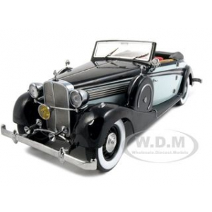 1937 Maybach SW38 2 Doors Spohn Black/Grey 1/18 Diecast Car by Signature Models