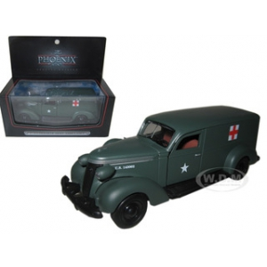 1937 Studebaker Army Ambulance Van 1/43 Diecast Car Model by Phoenix Mint