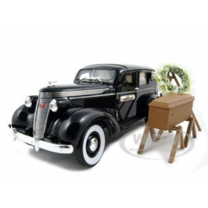 1937 Studebaker Hearse Wagon With Flowers and Casket 1/24 Diecast Model Car by Unique Replicas