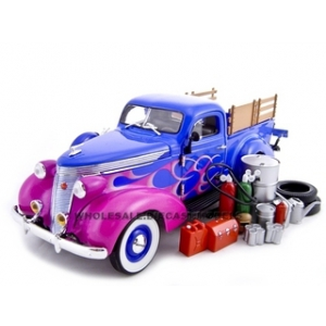 1937 Studebaker Pickup  Blue With Accessories 1/24 Diecast Car by Unique Replicas