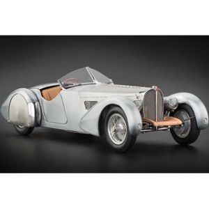 1938 Bugatti 57 SC Corsica Roadster Unpainted Clear Version Limited to 1000pc Worldwide 1/18 Diecast Car Model by CMC