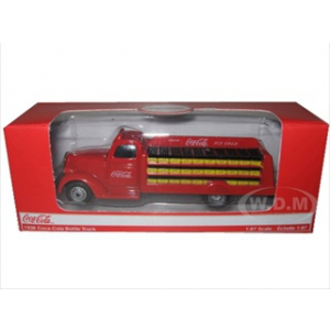 1938 Coca Cola Delivery Bottle Truck 187 HO Scale Diecast Model by Motorcity Classics