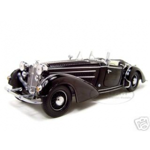 1939 Horch 855 Roadster Black 1/18 Diecast Car Model by Sunstar