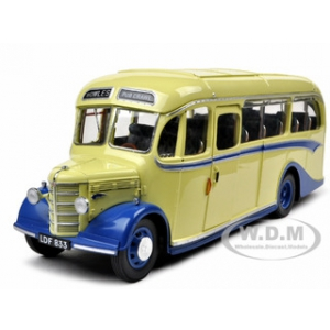 1949 Bedford OB Coach Bus Bowles Coaches 1/24 Diecast Model Car by Sunstar