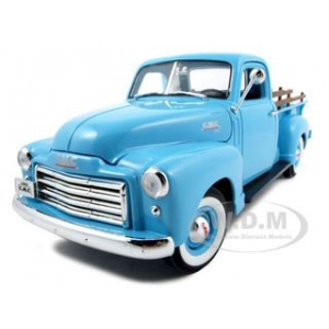 1950 GMC Pickup Truck Blue 1/18 Diecast Car by Road Signature