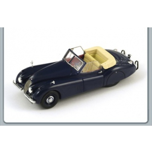 1953 Jaguar XK120 XK 120 Cabrio Blue 1/43 Diecast Car Model by Spark