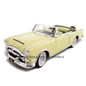 1953 Packard Caribbean Yellow 1/18 Diecast Model Car by Road Signature