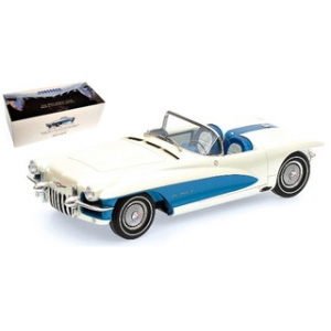 1955 La Salle Roadster White/Blue Limited to 999pc 1/18 Diecast Model Car by Minichamps