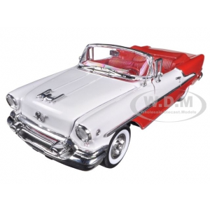 1955 Oldsmobile Super 88 Convertible Red 1/24 Diecast Car Model by Welly