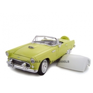 1956 Ford Thunderbird Yellow 1/24 Diecast Model Car by Unique Replicas