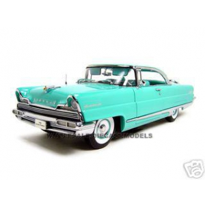 1956 Lincoln Premiere Hard Top Green Platinum 1/18 Diecast Model Car by Sunstar