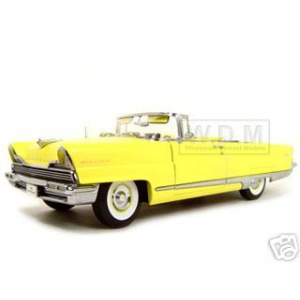 1956 Lincoln Premiere Yellow Platinum 1/18 Diecast Model Car by Sunstar