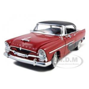 1956 Plymouth Savoy Red 1/32 Diecast Model Car by Signature Models