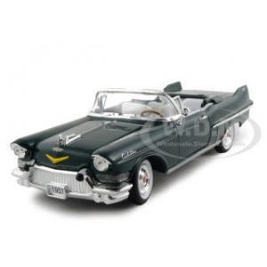 1957 Cadillac Series 62 Convertible Green 1/32 Diecast Car Model by Signature Models