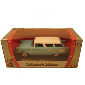 1957 Chevrolet Nomad Blue 1/43 Diecast Car by Road Signature