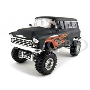 1957 Chevrolet Suburban Primer Black With Flames 1/24 by So Real Concepts