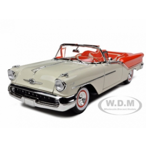 1957 Oldsmobile Super 88 Orange 1/18 Diecast Model Car by Road Signature