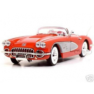 1958 Chevrolet Corvette Convertible Red 1/18 Diecast Model Car by Motormax