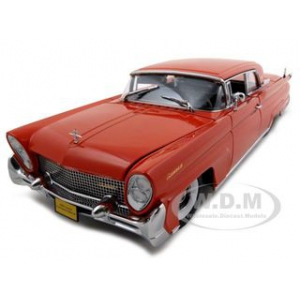 1958 Lincoln Continental Mark III  Red Platinum Edition 1/18 Diecast Model Car by Sunstar