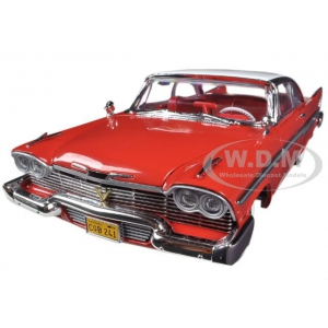 "1958 Plymouth Fury "" Christine "" Daytime Version 1/18 Diecast Car Model by Autoworld"