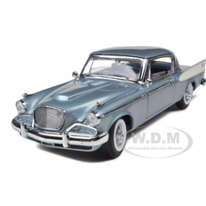 1958 Studebaker Golden Hawk Blue 1/18 Diecast Model Car by Road Signature