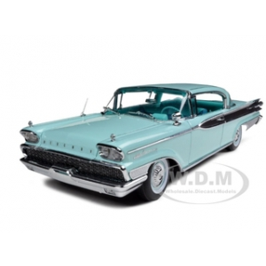 1959 Mercury Parklane Hard Top Twilight Turquoise 1/18 Diecast Car Model by Sunstar