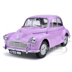 1960 Morris Minor 1000 Saloon Millionth Lilac/Pink 1/12 Diecast Car Model by Sunstar