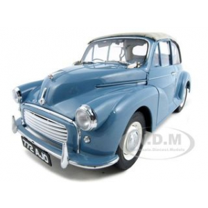 1960 Morris Minor Open Convertible Clipper Blue 1 of 1500 Produced 1/12 Diecast Model Car by Sunstar
