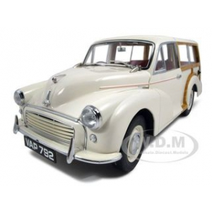 1960 Morris Minor Traveller Old English White 1/12 Diecast Car Model by Sunstar