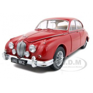1962 Jaguar Mark 2 3.8L Red 1/18 Diecast Car Model by Model Icons