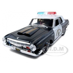 "1963 Dodge 330 Highway Patrol Police Car ""Pro Rodz""  1/18 Diecast Model Car by Maisto"