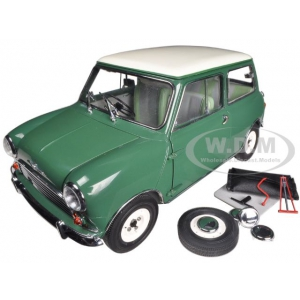 1963 Morris Cooper S Almond Green 1/12 Diecast Model Car by Sunstar 5304