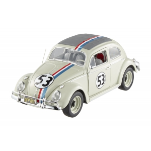 "1963 Volkswagen Beetle ""The Love Bug"" Herbie 53 Elite Edition 1/18 Diecast Car Model by Hotwheels"
