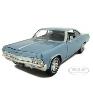 1965 Chevrolet Impala SS 396 Light Blue 1/24 Diecast Car Model by Welly