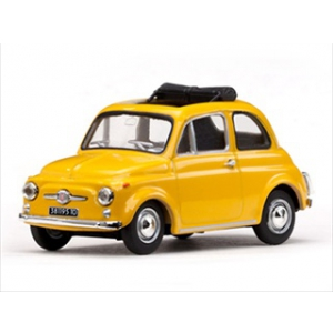 1965 Fiat 500 F Yellow Limited Edition 1 of 880 Produced Worldwide 1/43 Diecast Car Model by Vitesse