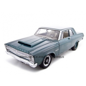 1965 Plymouth Belvedere Green Limited to 600pc 1/18 Diecast Model Car by Highway 61