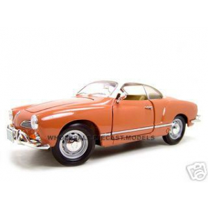1966 Volkswagen Karmann Ghia Coral 1/18 Diecast Model Car by Road Signature