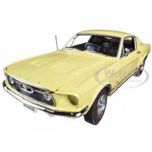 1967 Ford Mustang 22 GT Aspen Gold Limited to 1250pc 50th Anniversary 1/18 Diecast Car Model by Autoworld