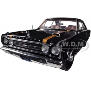 1967 Plymouth GTX Black 1/18 Diecast Car Model by Highway 61