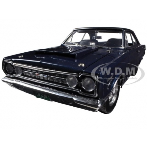1967 Plymouth GTX Blue 1/18 Diecast Car Model by Highway 61