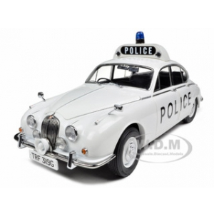 1968 Jaguar 240 Police Car Staffordshire County and Stoke on Trent Constabulary 1/18 Diecast Model Car by Model Icons