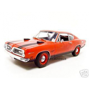 1969 Plymouth Barracuda Red 1/18 Diecast Car Model by Highway 61