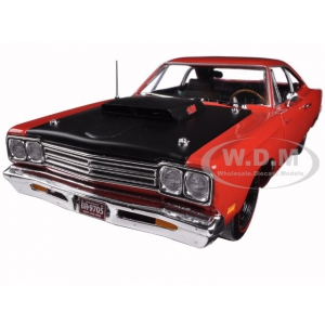 1969 Plymouth Road Runner R4 440-6 Red Limited Edition 1254pc 1/18 Diecast Car Model by Autoworld