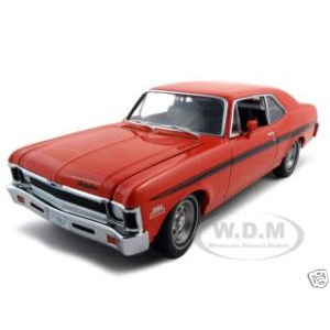 1970 Chevrolet Rally Nova Orange 1 of 500 Made1/18 Diecast Model Car by GMP